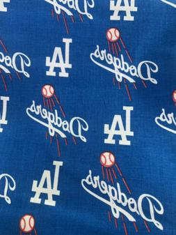 "MLB LOS Angeles Dodgers Baseball FABRIC, 100% COTTON 14"" X"