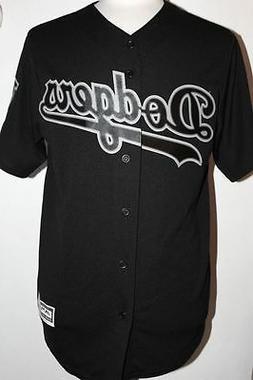 MLB Los Angeles Dodgers Cool Base Custom Black Baseball Jers