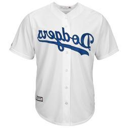 MLB Los Angeles Dodgers Cool Base Men's Plain Home Baseball