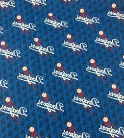MLB Los Angeles Dodgers Cotton Fabric 1/2 Yard 18X 44 Free C