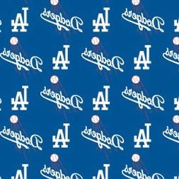 MLB LOS ANGELES DODGERS COTTON FABRIC MATERIAL, Fabric Sold