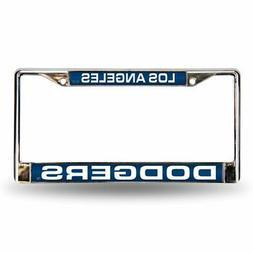 MLB Los Angeles Dodgers Laser-Cut Chrome Auto License Plate