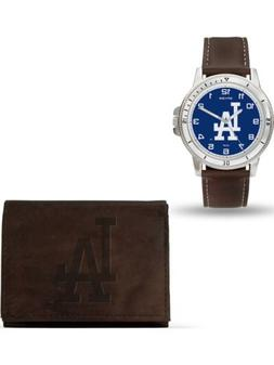 MLB Los Angeles Dodgers Leather Watch/Wallet Set by Rico Ind