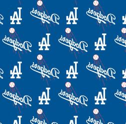 MLB Los Angeles Dodgers Logo Cotton Fabric by the 1/4,1/2,Ya