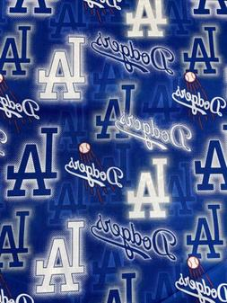 Mlb Los Angeles Dodgers Logo Fabric 1/2 Yard X 44inches  Cot