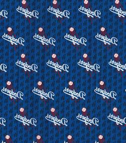 MLB LOS ANGELES DODGERS MINI LOGO COTTON FABRIC MATERIAL 1/2