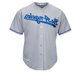 MLB Los Angeles Dodgers New Cool Base Men's Road Baseball Te