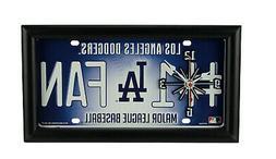 MLB Los Angeles Dodgers Number 1 Fan License Plate Mantel or