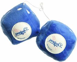 MLB Los Angeles Dodgers Plush Fuzzy Dice Auto Accessories