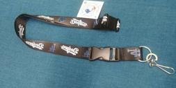 MLB Los Angeles Dodgers Team Lanyard - Black  with Clip *NEW