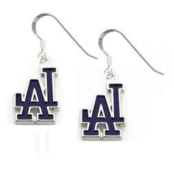 MLB Los Angeles Dodgers Team Logo Dangle Earrings 925 Sterli