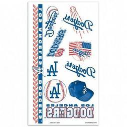 MLB Los Angeles Dodgers Wincraft Temporary 7 Tattoo Sheet NE