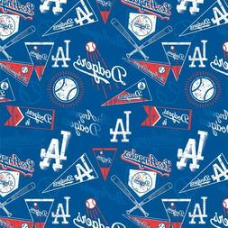 MLB LOS ANGELES DODGERS VINTAGE PRINT Cotton Fabric by the 1