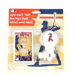 MLB Los Angeles LA angels Night Light & Outlet Cover Combo K