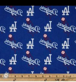 MLB LOS ANGELES LA DODGERS Baseball 1/4 Yard  100% Cotton Fa