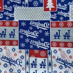 MLB Los Angeles LA Dodgers Baseball 100% Cotton Fabric 1/4 y