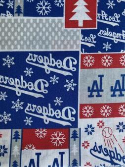 MLB Los Angeles LA Dodgers Baseball 100% Cotton Fabric 1/4 y