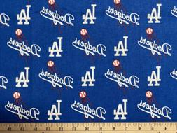 MLB LOS ANGELES LA DODGERS Baseball HALF Yard  100% Cotton F