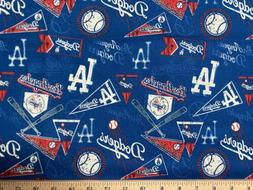 MLB LOS ANGELES LA DODGERS Baseball Vintage 1/4 Yard  100% C