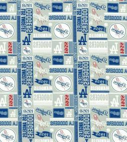 MLB Los Angeles LA Dodgers Major League Baseball Cotton Fabr