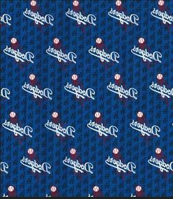 MLB Los Angeles LA Dodgers Mini Print Cotton Fabric 1/4 Yard