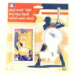 MLB Los Angeles LA Dodgers Night Light & Outlet Cover Combo