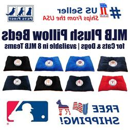 MLB Pet Plush Pillow Bed - Licensed Soft and Cozy Premium Pi