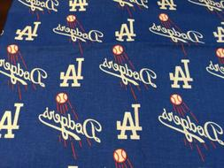 "MLB PRINT COTTON FABRIC - LOS ANGELES DODGERS - 58"" WIDTH"