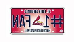 MLB St. Louis Cardinals #1 Fan Metal Tag