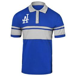 MLB Team Apparel Cotton Stripe Polo Team Color Los Angeles D