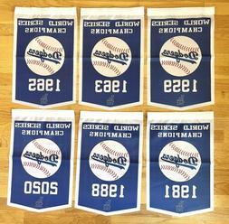 Los Angeles Dodgers MLB World Series Champions 6 Banners/Fla