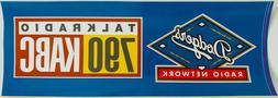 NEW LA DODGERS Los Angeles KABC 790 AM Talk Radio Network Bu