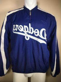 NEW Los Angeles Dodgers Majestic MLB 1/4 Zip Pullover Windbr