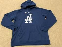 New Mens Under Armour LA Los Angeles Dodgers Blue Hoodie Hoo
