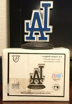 NIB MLB LOS ANGELES DODGERS LOGO PAPERWEIGHT STATUE BY THE M