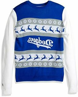 NWT LOS ANGELES DODGERS UGLY LED LIGHT KNIT WINTER SWEATER S