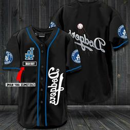 Personalized Los Angeles Dodgers Baseball Jersey Custom Name