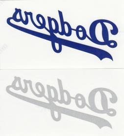 REFLECTIVE Los Angeles Dodgers script decal sticker up to 12