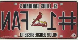 ST LOUIS CARDINALS #1 FAN CAR TRUCK TAG LICENSE PLATE MLB BA