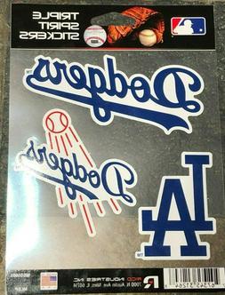 Triple Spirit Stickers -Three Pack - Los Angeles Dodgers - E