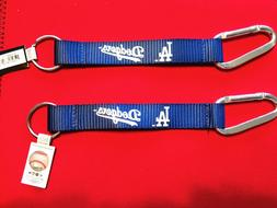 TWO  BEAUTIFUL AND HANDY, LOS ANGELES DODGERS CARABINER KEYC