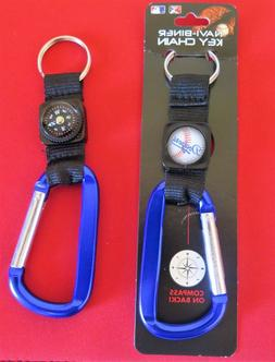 TWO  BEAUTIFUL, LOS ANGELES DODGERS CARABINER COMPASS KEYCHA
