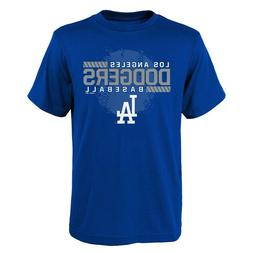 Youth Los Angeles Dodgers Majestic Blue Knuckle Ball T-Shirt